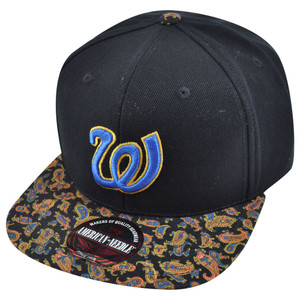 MLB American Needle Washington Senators Cooley High Paisley Strapback Hat Cap