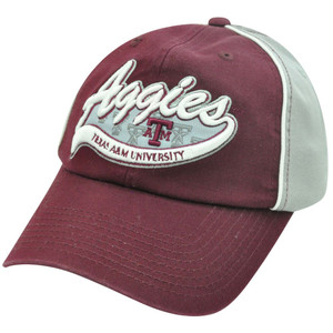 NCAA Texas A&M Aggies Garment  Wash Slouch Relax Two Tone Adjustable Velcro Hat