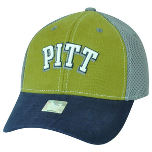 NCAA Pittsburgh Panthers Curved Bill Mesh Collegiate Adjustable Velcro Hat Cap
