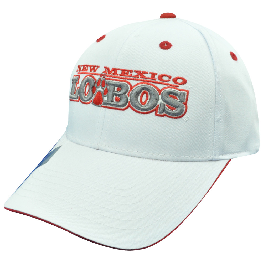 044c2a1abff NCAA New Mexico Lobos Plain White Name Constructed Curved Bill ...