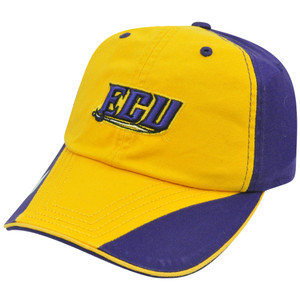 NCAA ECU East Carolina Pirates Flip Yellow Garment Washed Slouch Relaxed Hat Cap