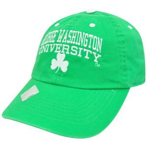 NCAA George Washington Colonials St Patricks Green Garment Wash Clover Hat Cap