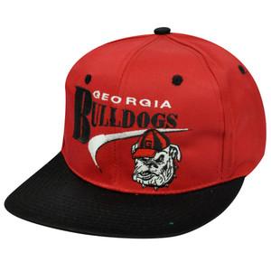 NCAA GEORGIA BULLDOGS SNAPBACK FLAT BILL OLD SCHOOL HAT