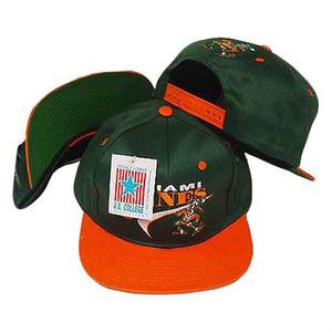 NCAA Miami Hurricanes Drew Pearson Vintage Deadstock Swoop Snapback Hat