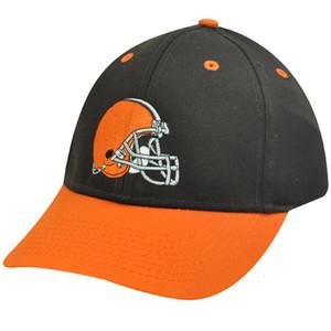 NFL Cleveland Browns Brown Orange Helmet Logo Cotton OSFA Mens Adult Hat Cap