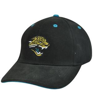 NFL Jacksonville Jaguars Black Wool Velcro Mens Adult OSFA Adjustable Hat Cap