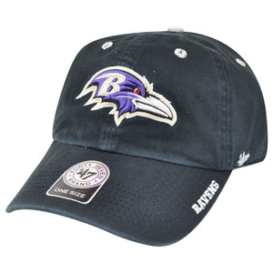 '47 Brand NFL Baltimore Ravens Ice Garment Wash Adjustable Snap Buckle Hat Cap