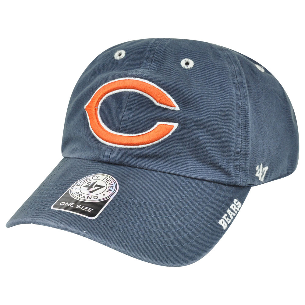 00e1bd552 '47 Brand NFL Chicago Bears Ice Relaxed Adjustable Snap Buckle Authentic  Hat Cap. Image 1