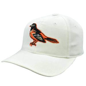 MLB Baltimore Orioles Puma ATA Vintage Old School Snapback Hat Cap White Orange