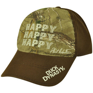 Duck Dynasty Official Adjustable Velcro Happy Reality TV Show Camouflage Hat Cap