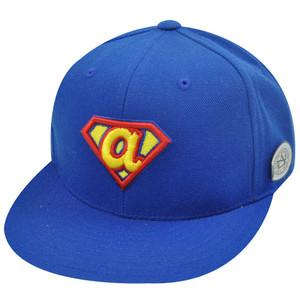 MLB ATLANTA BRAVES FITTED 7 SUPERMAN FLAT BILL HAT CAP