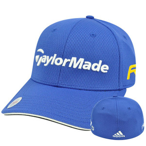 Adidas Ashworth Golf Hat Cap Penta Taylor Made R11 Blue Stretch Flex Fit L/XL