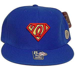 Washington Senators Superman Comics Cooperstown American Needle Fitted 8 Hat Cap