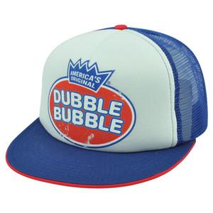 Americas Original Dubble Bubble Gum Distressed Trucker Mesh Snapback Hat Cap