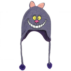 Alice In Wonderland Cheshire Cat Laplander Peruvian Knit Beanie Purple Hat Warm