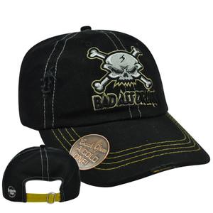 7e6d719c69d Skull Bad Ass Drunk Built Bottle Opener Garment Wash Distress Sun Buckle Hat  Cap