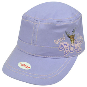 Good Buck Charm Deer Purple Pink Toddler Youth Girl Velcro Military Army Hat Cap