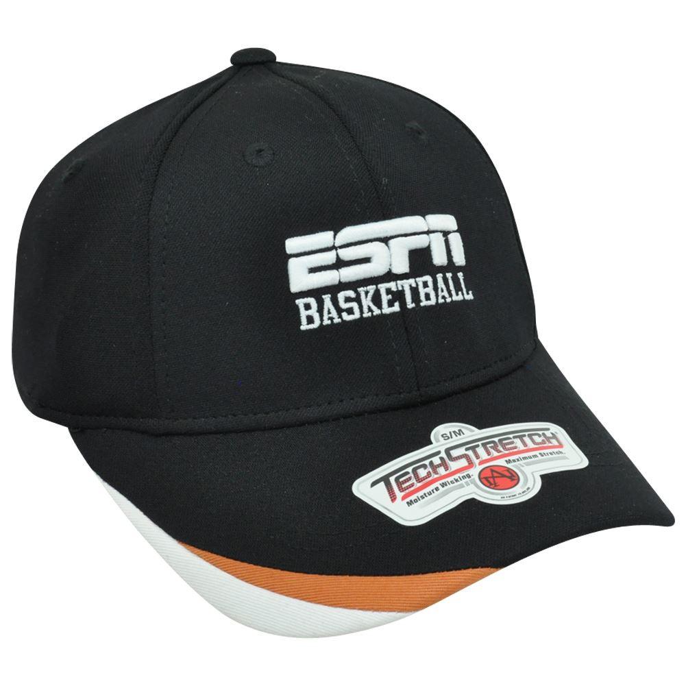 e1da16c14a1 ESPN Basketball Sports News Channel Televison Network Flex Fit S M Hat Cap  Black. Your Price   18.49 (You save  3.46). Image 1