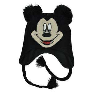 Disney Mickey Mouse Youth Pom Pom Laplander Ear Flap Fleece Beanie Peruvian Knit