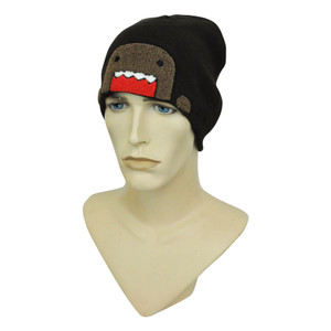 Domo Kun Japanese Character Animation NHK Terry Cloth Cuffless Knit Beanie  Hat 743d1f0f83b5