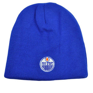 NHL LNH Reversible Zephyr Kids Womens Beanie Knit Nordic Hat Edmonton Oilers