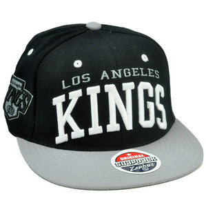 NHL LNH LA Los Angeles Kings Super Star 32/5 Snapback Hat Cap Flat Bill Zephyr