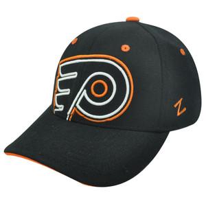 NHL LNH PHILADELPHIA FLYERS BLACK FLEX FIT SM HAT CAP