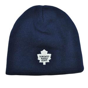 NHL LNH Reversible Zephyr Kids Womens Beanie Knit Nordic Hat Toronto Maple Leafs