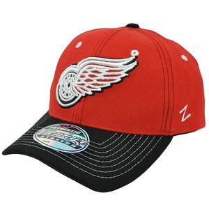 NHL LNH Zephyr Jumbotron Flex Fit Stretch Zhat Hat Cap Detroit Red Wings M/L