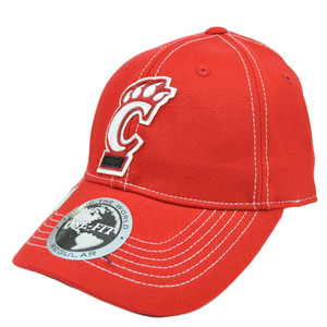 Cincinnati Bearcats UC Applique Patch Hat Cap NCAA Flex Fit Stretch Top World