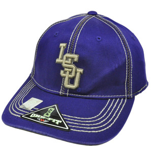 NCAA Top of The World LSU Tigers Stitches Curved Bill Hat Cap One Size Flex Fit