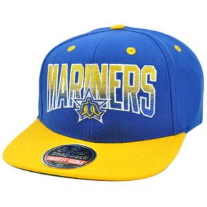 MLB American Needle Retro Flat Bill Snapback Cap Hayes Wool Seattle Mariners