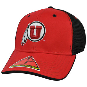 NCAA Butter Pro Pocket Stretch Flex Fit S/M Constructed Hat Cap Mesh Utah Utes
