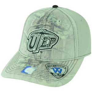 NCAA Texas El Paso Utep Miners Battle Fade Camouflage Flex Fit One Size Hat Cap