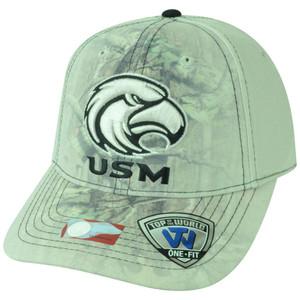 NCAA USM Southern Miss Golden Eagles Battle Fade Camo Flex Fit One Size Hat Cap