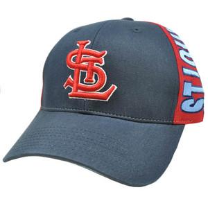 MLB St Saint Louis Navy Dark Light Blue Red Snapback American Needle Hat Cap