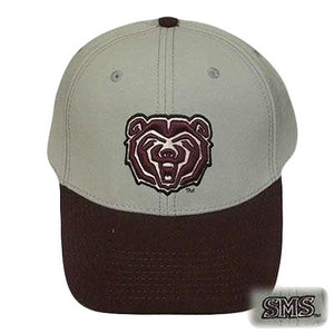 NCAA FITTED CAP HAT SOUTHWEST MISSOURI BEARS 7 3/8 GREY