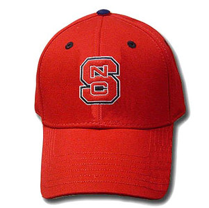 NCAA FITTED CAP HAT NORTH CAROLINA WOLFPACK RED SIZE 7