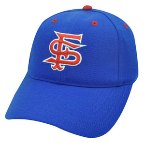 NCAA FITTED CAP HAT SIZE 6 3/4 FRESNO BULLDOGS BLUE