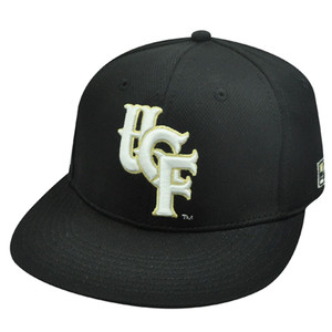 NCAA FITTED CAP HAT CENTRAL FLORIDA KNIGHTS BLACK 7 1/8