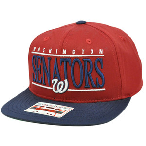 MLB American Needle Nineties Twill Cap Snapback Flat Bill Washington Senators