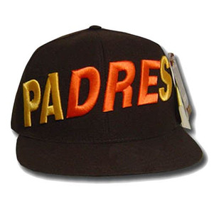 MLB SAN DIEGO PADRES FLAT BILL HAT CAP BROWN SIZE 7
