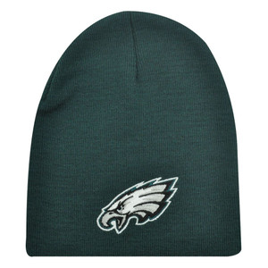 PHILADELPHIA EAGLES TEAL GRAY NFL CUFFLESS BEANIE KNIT HAT SKULLY TOQUE LICENSED