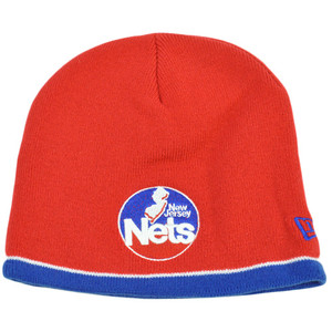 NBA BEANIE KNIT TOQUE HAT NEW JERSEY NETS NEW ERA RED