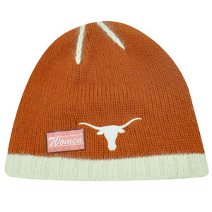 NCAA TEXAS LONGHORNS ANGORA WOMEN BEANIE KNIT HAT TOQUE