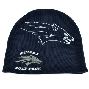 NCAA Licensed Nevada Wolf Pack Beanie Hat Toque Knit Adult Acrylic One Size Fit