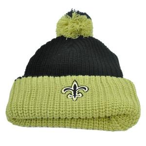NFL New Orleans Saints Schwartz Beanie Pom Pom Knit Beanie Cuffed Toque Fleece