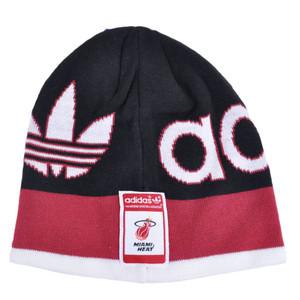 af32c889448 NBA Adidas Miami Heat KC73Z Cuffless Beanie Knit Toque Hat HWC Skully Black  Red