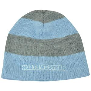 NCAA American Needle Women Ladies Northwestern Wildcats Cuffless Knit Blue Hat