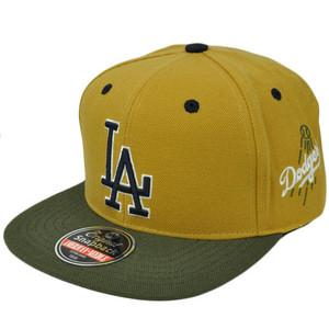 MLB American Needle Blockhead Earthtone Cap Hat Snapback LA Dodgers Gold Olive